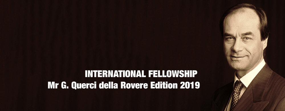 INTERNATIONAL FELLOWSHIP Mr G Querci della Rovere Edition 2019